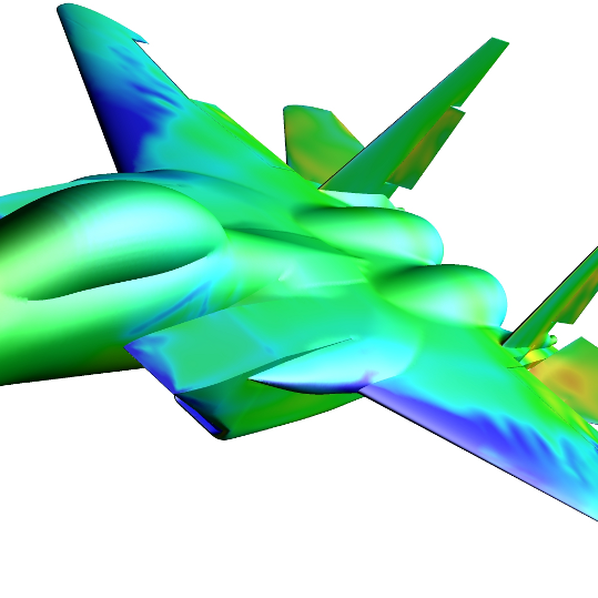 Manuevering F-15 with Overset Grids